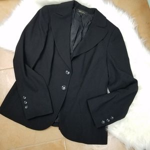Escada Black Blazer Suit Jacket 44 Large
